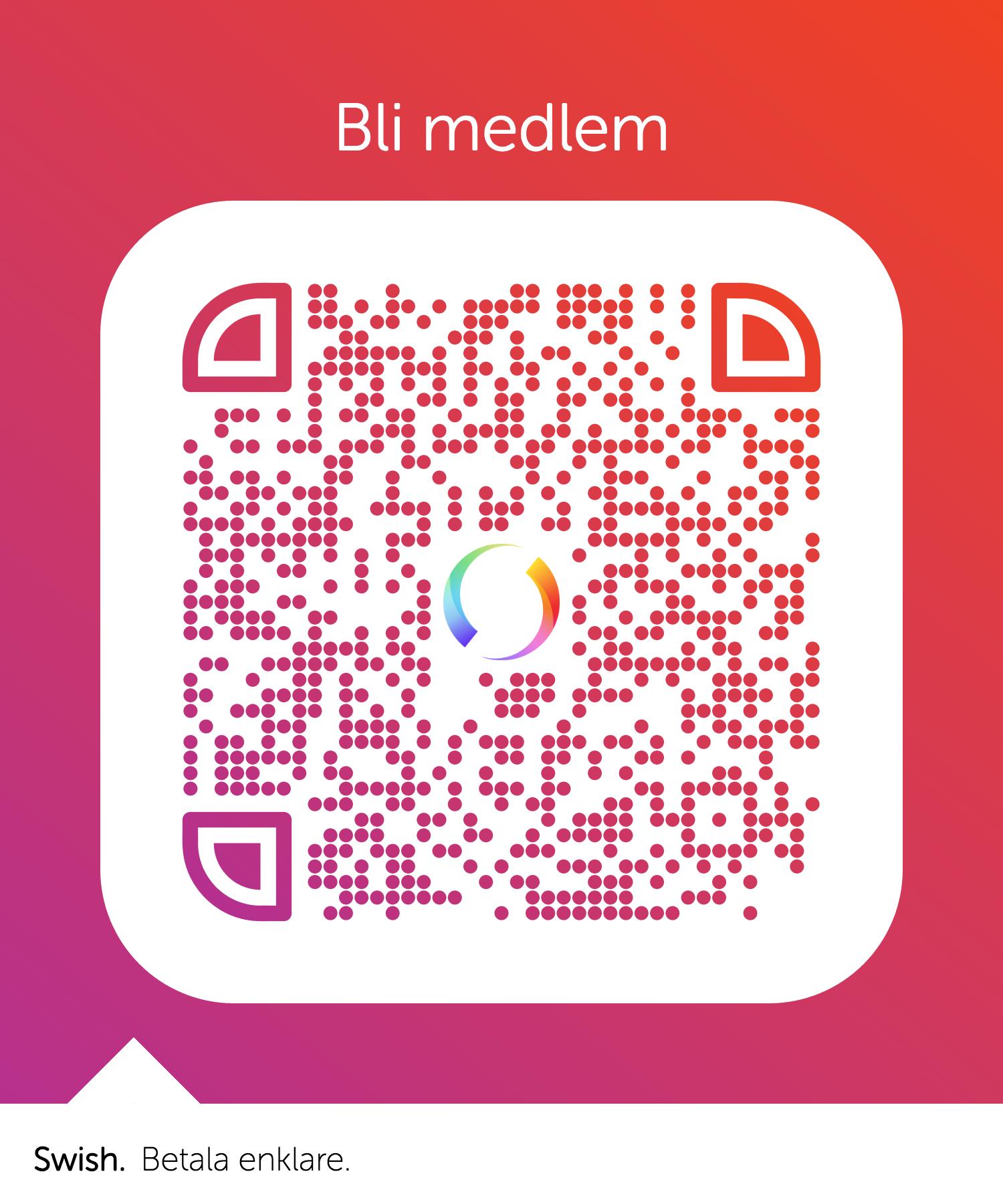QR-kod för Swish-betalning.