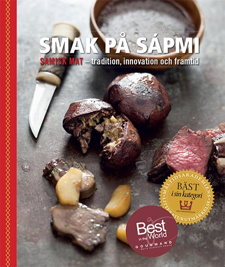 Bilden visar omslaget till boken Smak på Sápmi.
