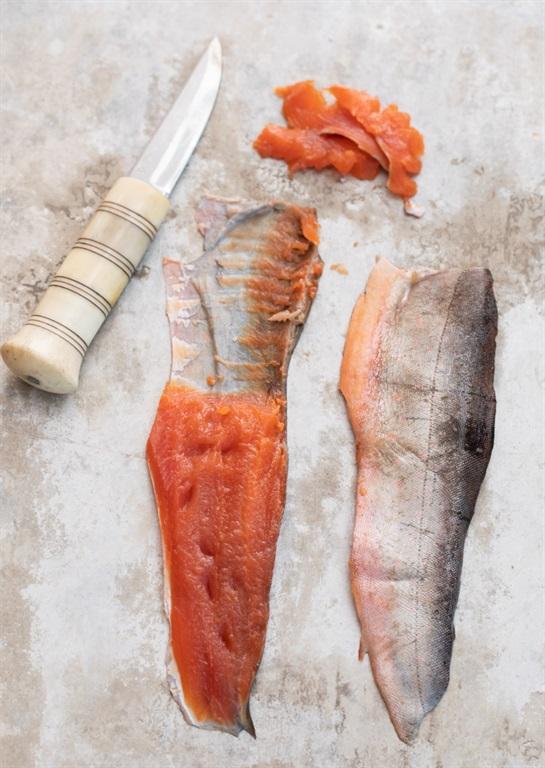 Gravad fjällfisk